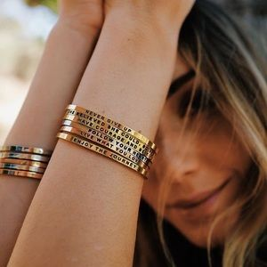 Bracelets bangles thin stackable thin dainty-GOLD